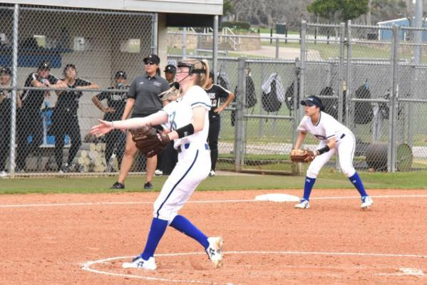Blinn College softball opened the regular season by splitting a doubleheader. The Buccaneers beat Temple and fell to Louisiana State. Contributed photo