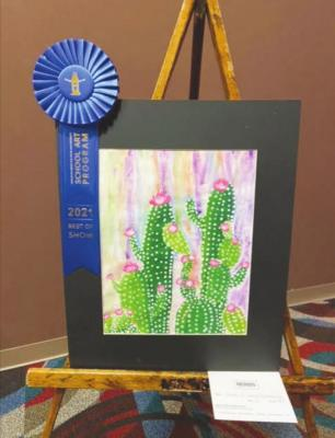 "Best of Show: ""Queen of Social Distancing"" by Ainsley Oliver, MBS 5th Grade"