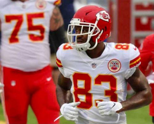 Kansas City Chiefs tight end Ricky Seals-Jones (83) will become the first Sealy-born NFL player to make a Super Bowl when the Chiefs play the Tampa Bay Buccaneers this Sunday. (Contributed photo)