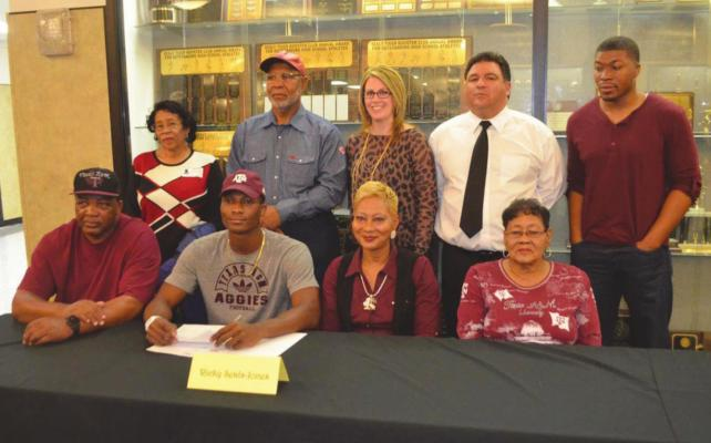 Ricky Seals-Jones signed his National Letter of Intent to play football at Texas A&M during a signing ceremony at Sealy High School on Feb. 6, 2013. Eight years and one day later, he was Sealy's first representative at the Super Bowl. FILE PHOTOS