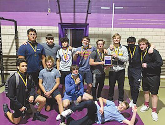 The Sealy Tiger powerlifting team took home first place from the Weimar Meet last Monday, Feb. 1. They were joined by the Lady Tigers in winning both team competitions where eight lifters won their class. Contributed photo