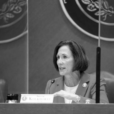 State Sen. Lois Kolkhorst chairs the Dec. 8 Senate Committee on Health and Human Services Hearing. Contributed photo